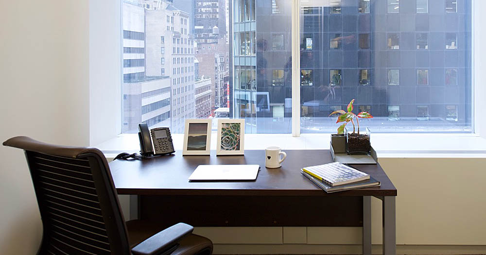 Work Better Private Office City Window